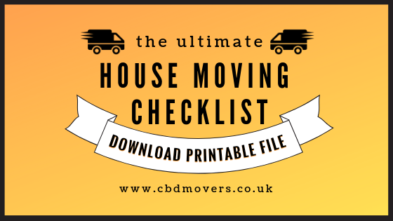 photograph regarding Stay Organized With a Printable Moving Checklist identified as Home Going Record United kingdom - Down load Printable Record CBD Movers