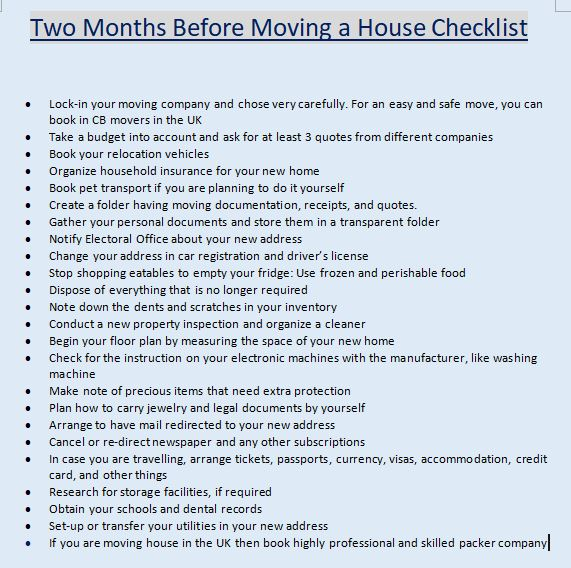 picture regarding Stay Organized With a Printable Moving Checklist named Room Shifting Record British isles - Obtain Printable History CBD Movers
