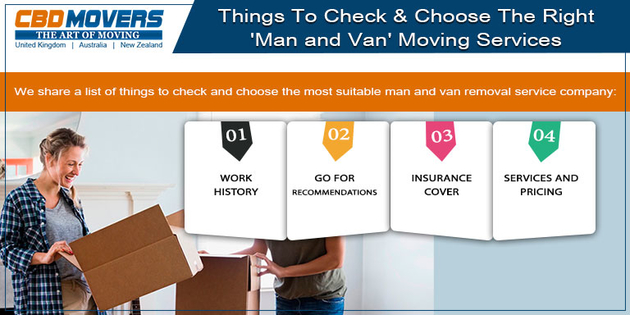 Things To Check & Choose The Right 'Man and Van' Moving Services in UK