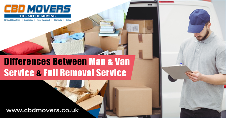 Differences Between Man and Van Services and Full Removal Services in Manchester